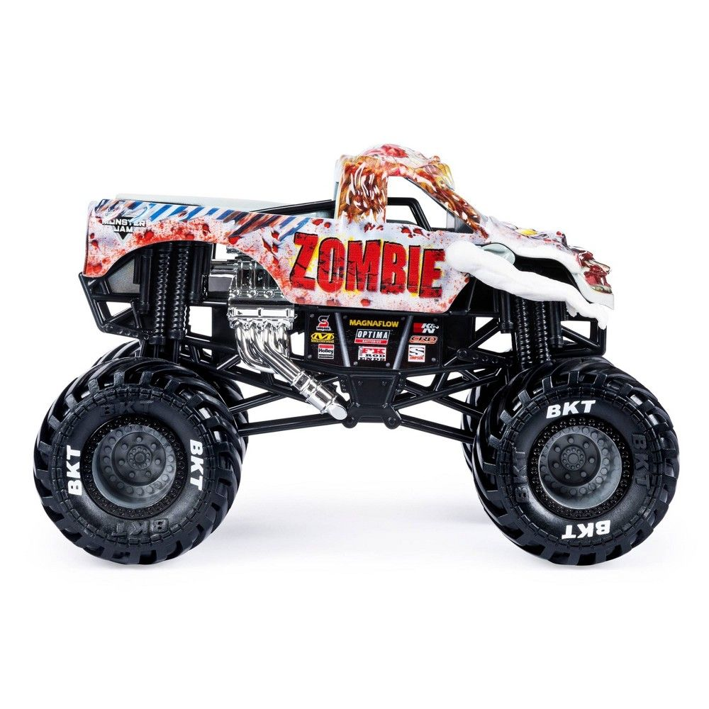 Monster Jam Official Zombie Monster Truck Die Cast Vehicle 1 24 Scale Monster Trucks