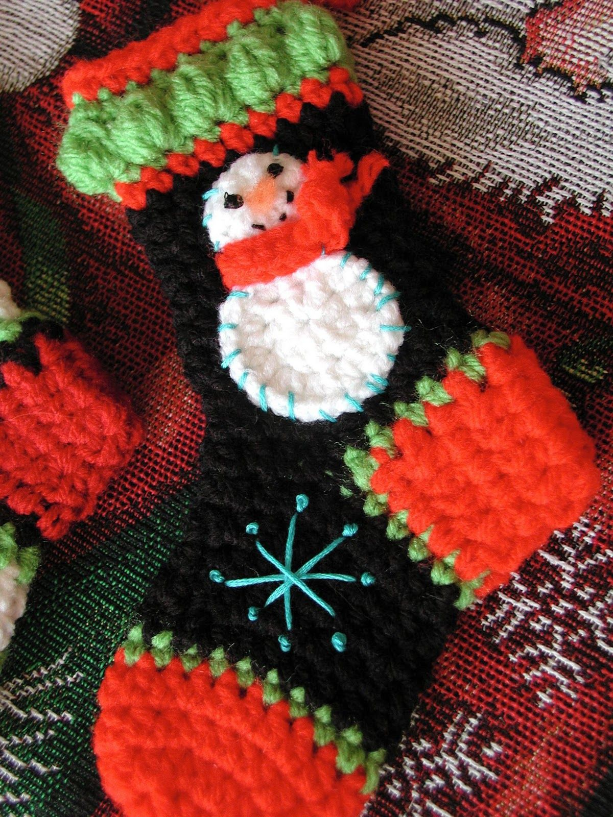 1970'S Christmas Stocking Crochet Pattern Magnificent Decoration