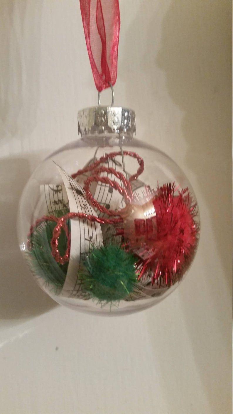 6 Glass Christmas Balls Vintage Music Ornaments Handmade Etsy In 2020 Music Ornaments Glass Christmas Balls Christmas Globes