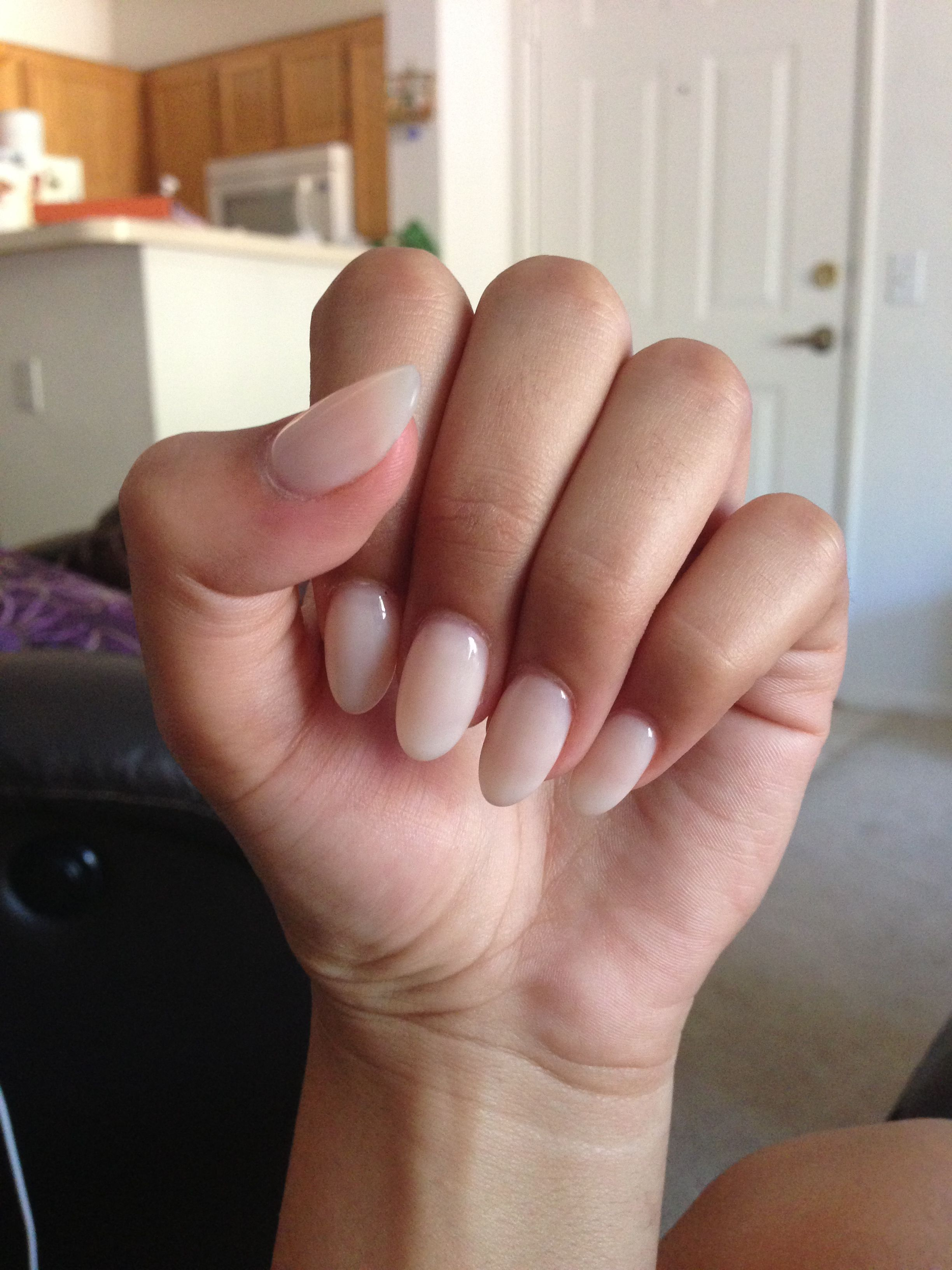 Got my nude stiletto nails done on Sunday! Love them! Such a great transition from Summer to Fall!(: