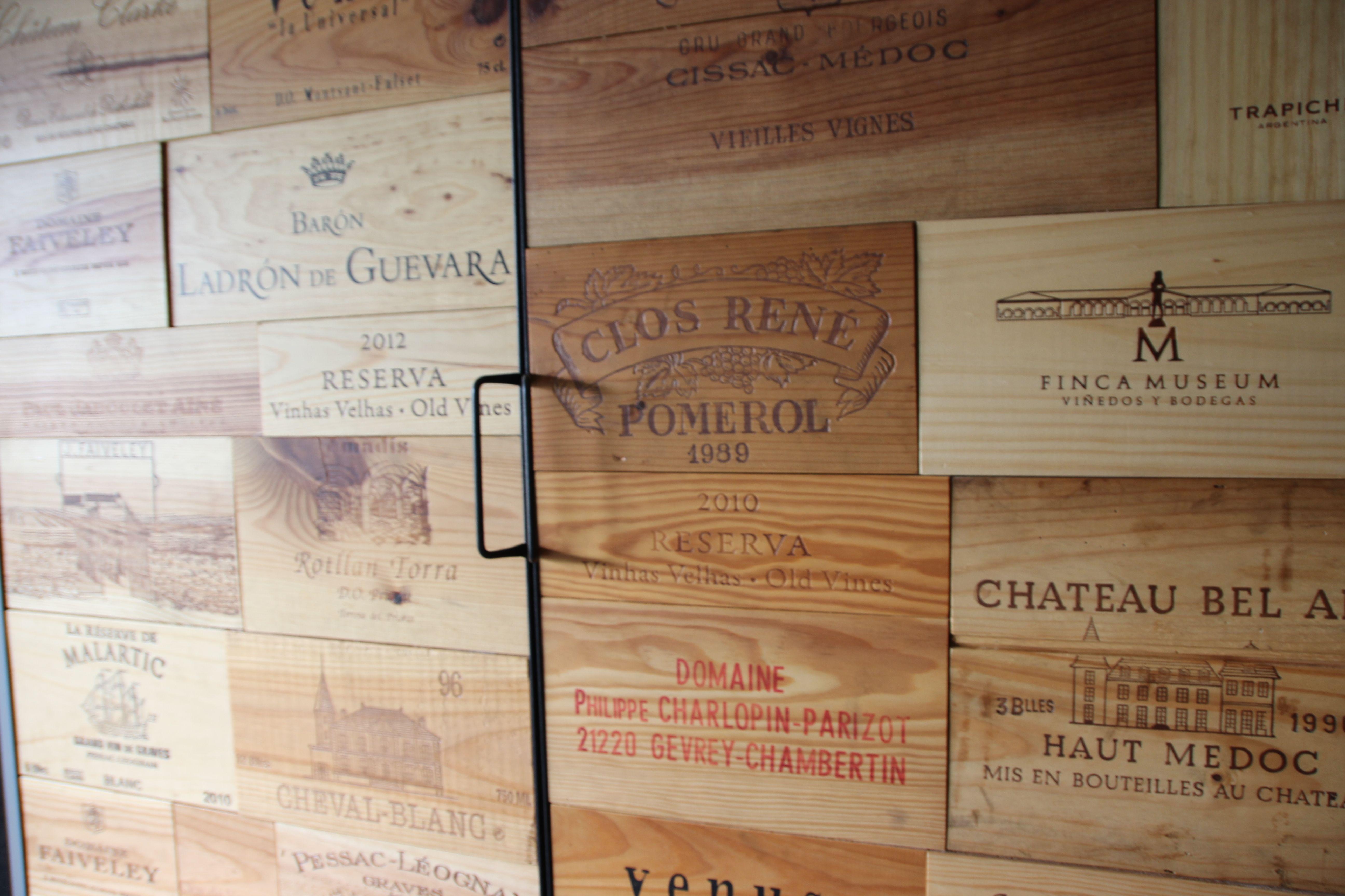 Credenza Industrial Fai Da Te : Wine crate wijnkist diy cases furniture pinterest