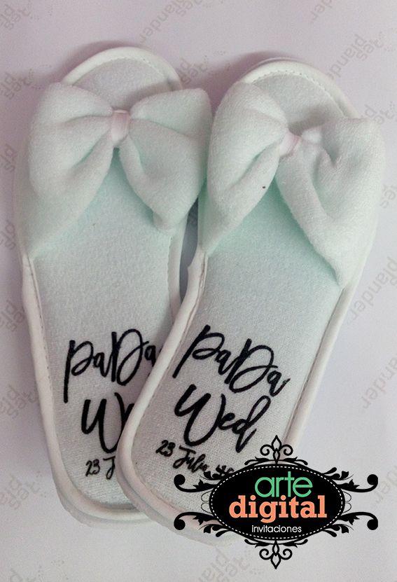 sandalias de toalla impresas para boda o xv años  3e4984d016e