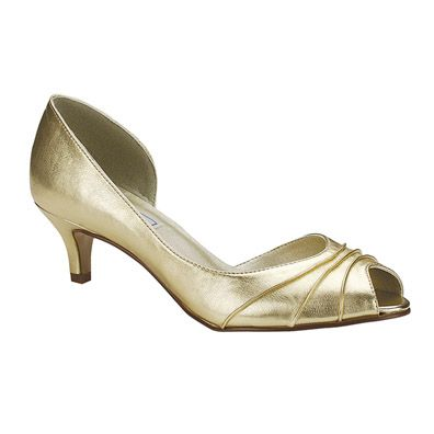 Gold Shoes For Wedding Low Heels