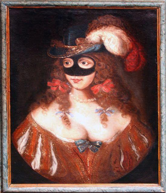 Portrait of a masked woman,17th c.