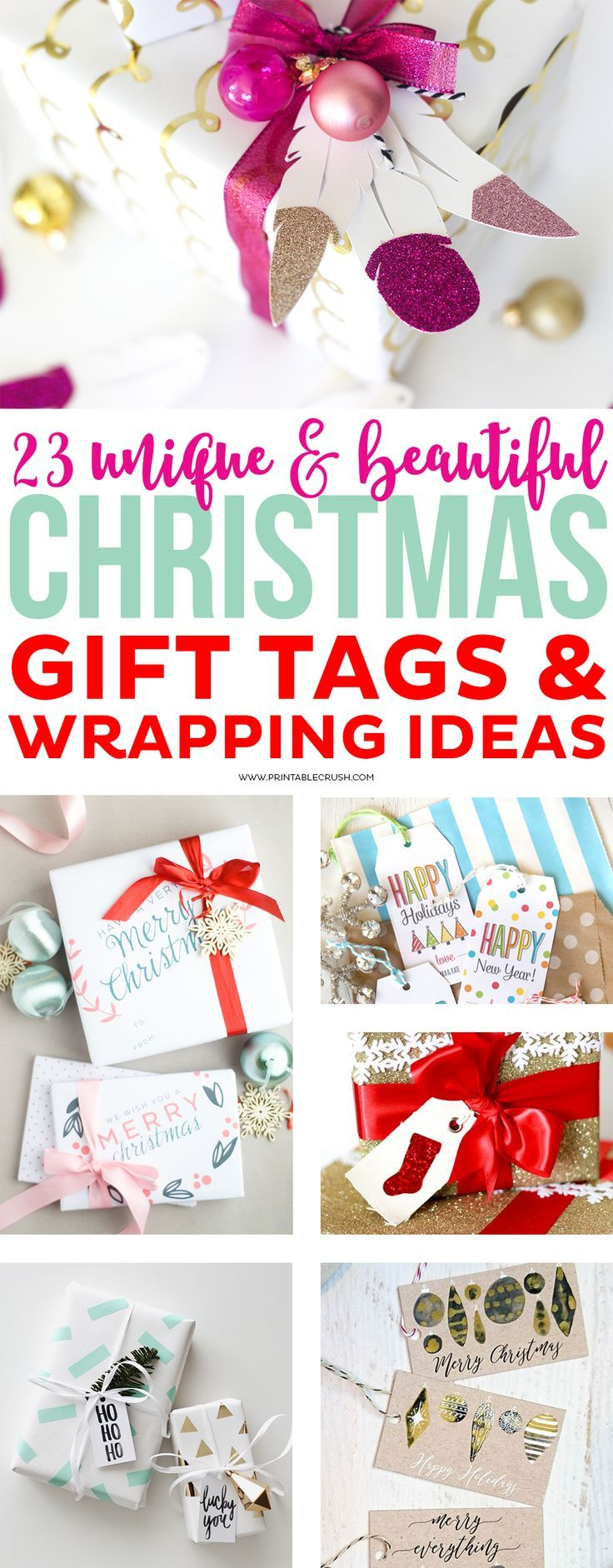 23 Unique Christmas Gift Tags and Wrapping Ideas | Pinterest ...