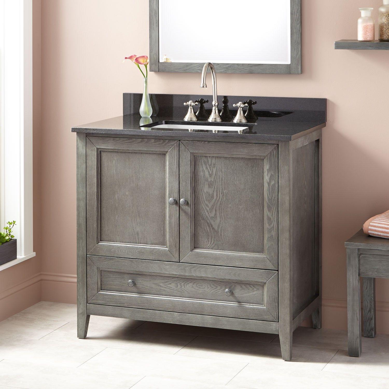 36 kipley vanity for rectangular undermount sink gray wash rh uk pinterest com