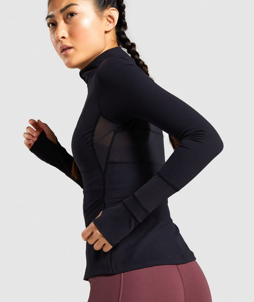 Gymshark speed full zip jacket black in 2020 zip