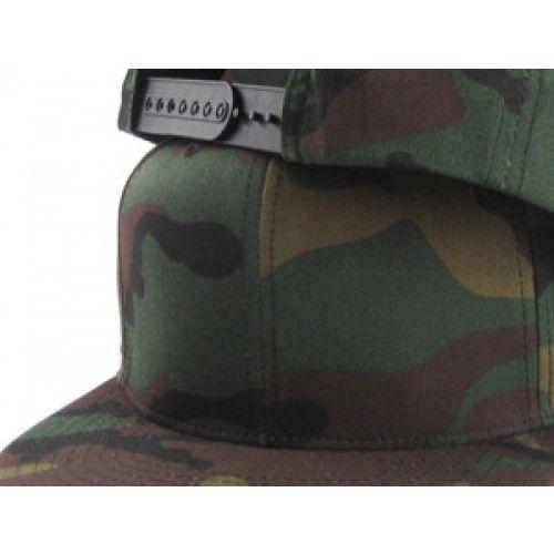 Blank Snapback Hat (CAMO GREEN UNDER BRIM) Snapback Hats 4e9462eca132