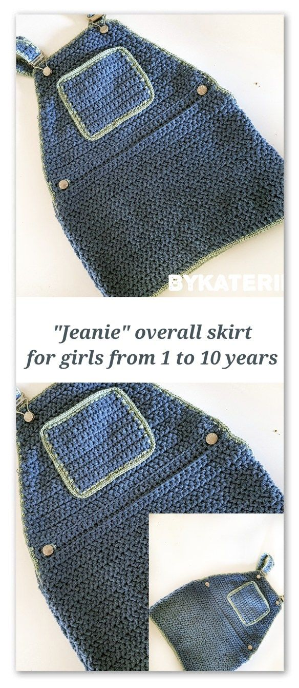 Jeanie Overall Skirt For Girls From 1 To 10 Years Bykaterina