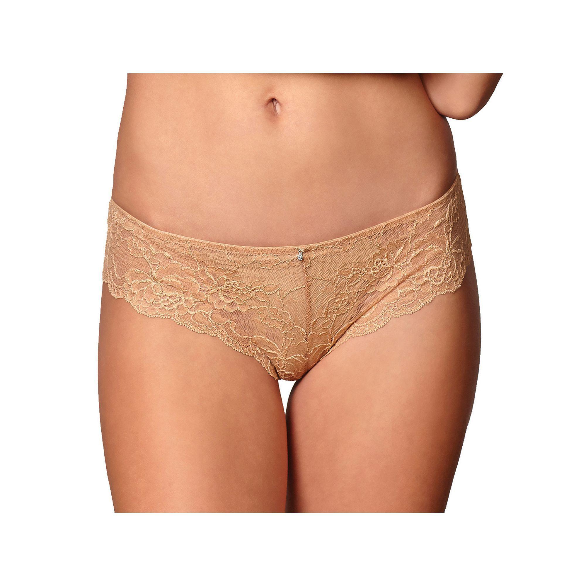 Montelle Intimates Brazilian Lace Cheeky Hipster Panty , Women's, Size: XS,  Black