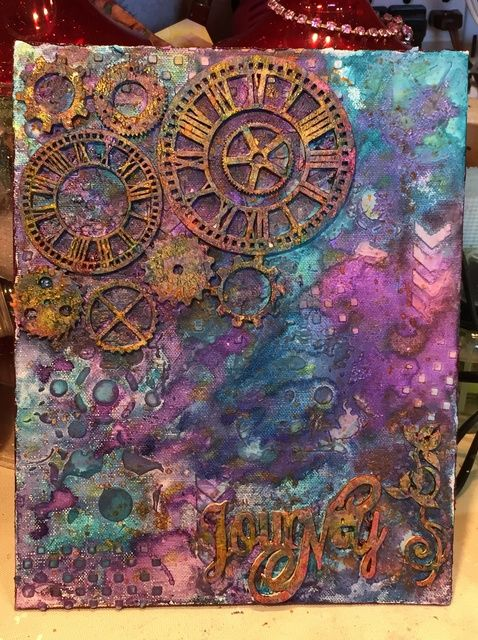 How To Create A Colorful Mixed Media Canvas Using Minx