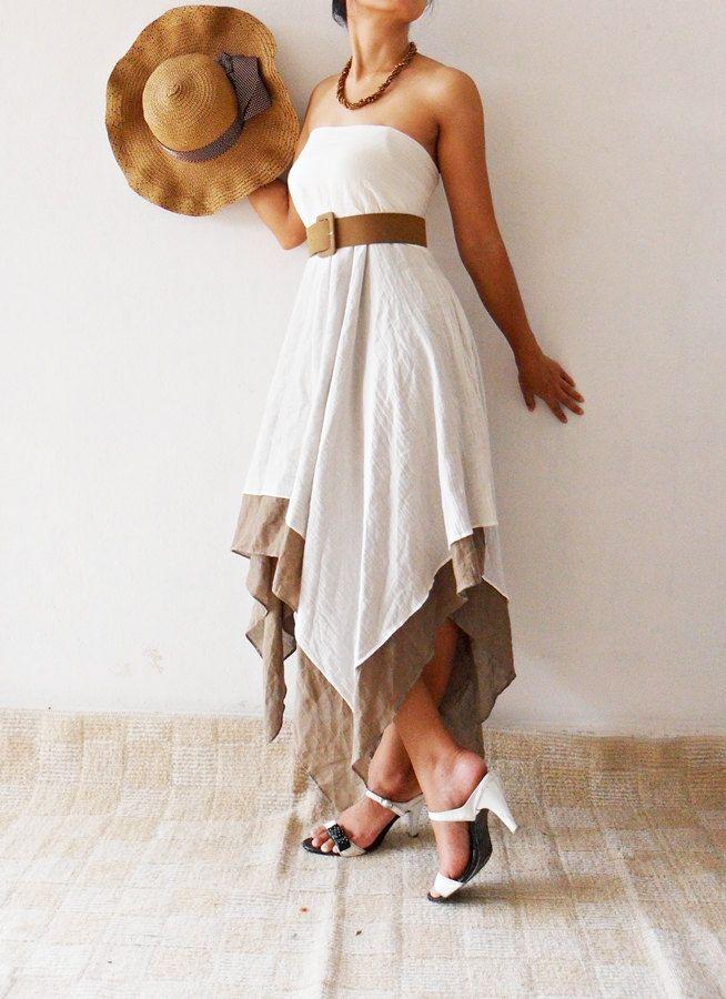 Beautiful White cotton Dress. $40.00, via Etsy.