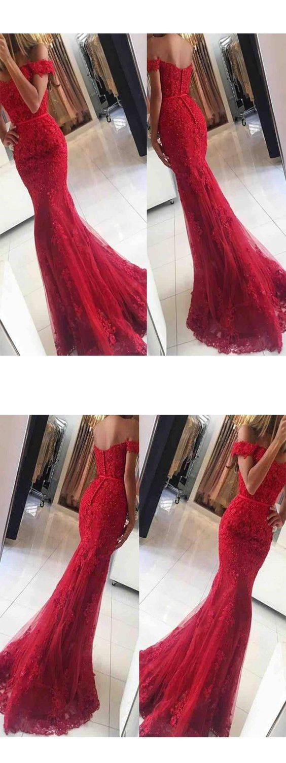 Lace Mermaid Prom Dress,Off Shoulder Red Prom Dresses,Charming Prom Dresses,Evening Dress Prom Gowns, Sexy prom dress M1031#prom #promdress #promdresses #longpromdress #promgowns #promgown #2018style #newfashion #newstyles #2018newprom#eveninggowns#lacemermaidpromdress#offshoulder#redpromdress#charmingpromgown