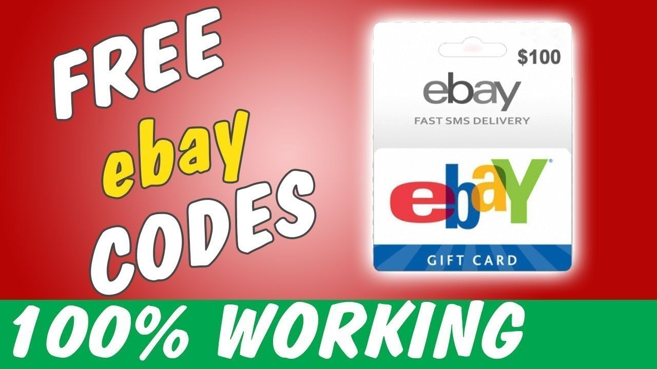How To Use An Ebay Gift Card Ebay Free Gift Card Codes 2019 100 Wor Ebay Gift Gift Card Giveaway Gift Card Specials