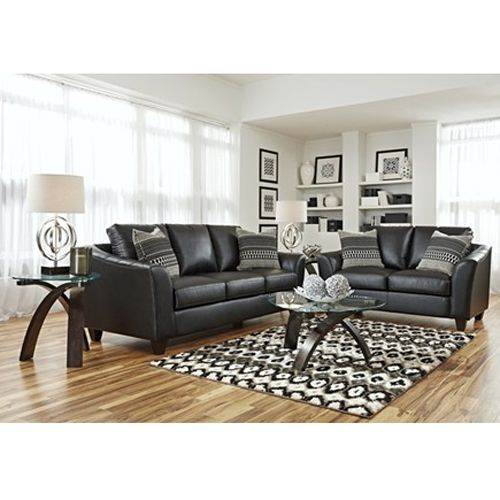 Woodhaven apollo 7 piece living room group in black - Woodhaven living room furniture collection ...
