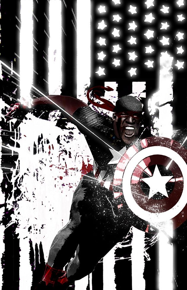 Captain America Isaiah Bradley by Sean Anderson