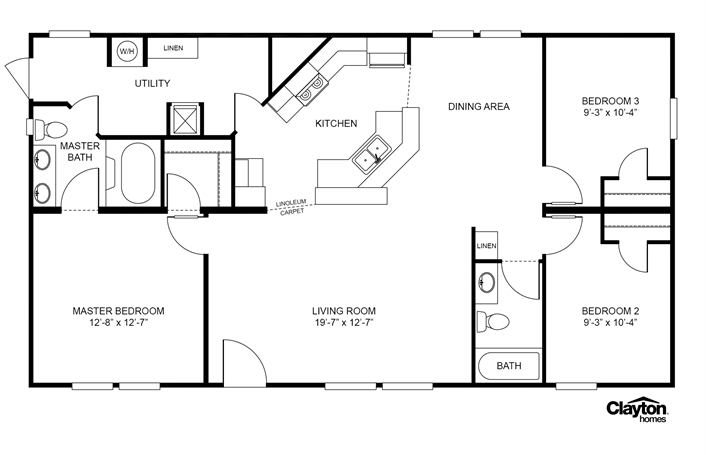 clayton homes home floor plan manufactured homes modular homes rh pinterest com