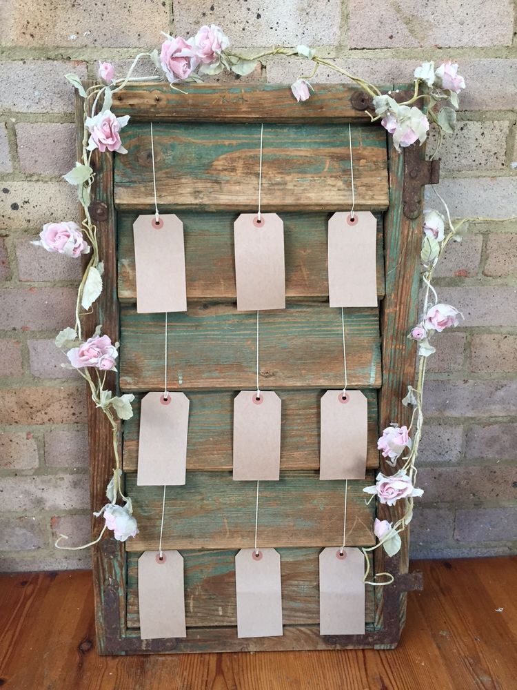 Vintage french shutter wedding table plan decorative wedding vintage french shutter wedding table plan decorative wedding accessory junglespirit Choice Image