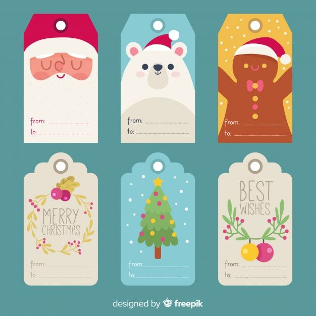 weihnachten tannenbaum #weihnachten Coleccin etiquetas navidad elementos vector gratuito