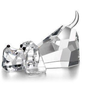 Godinger crystal lying dog figurine ornament
