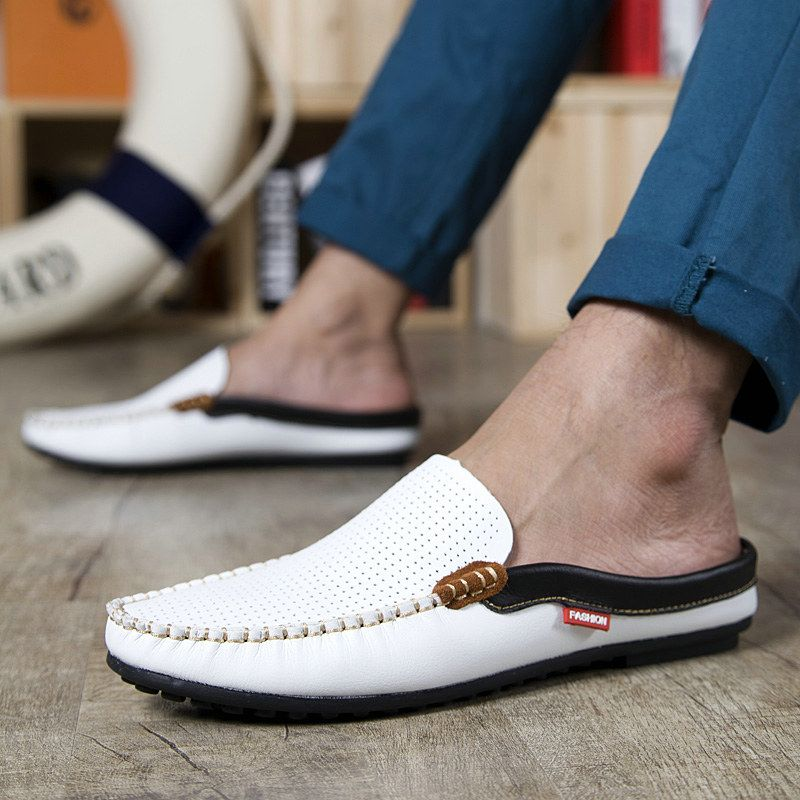2015 Breathable Flat Driving Mens Shoes Fashion Flats For Men Summer Slip-on Loafer Sapatos Color Blue White Size 38 to 43