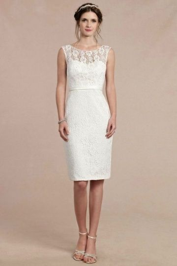 Robe de cocktail blanche dentelle
