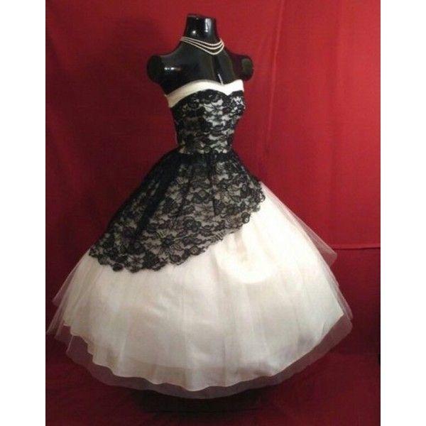 Vintage 1950 S Short Wedding Dresses 2015 Black White Lace Gothic Bridal Gowns Short Wedding Dress Victorian Ball Gowns Black Wedding Dresses