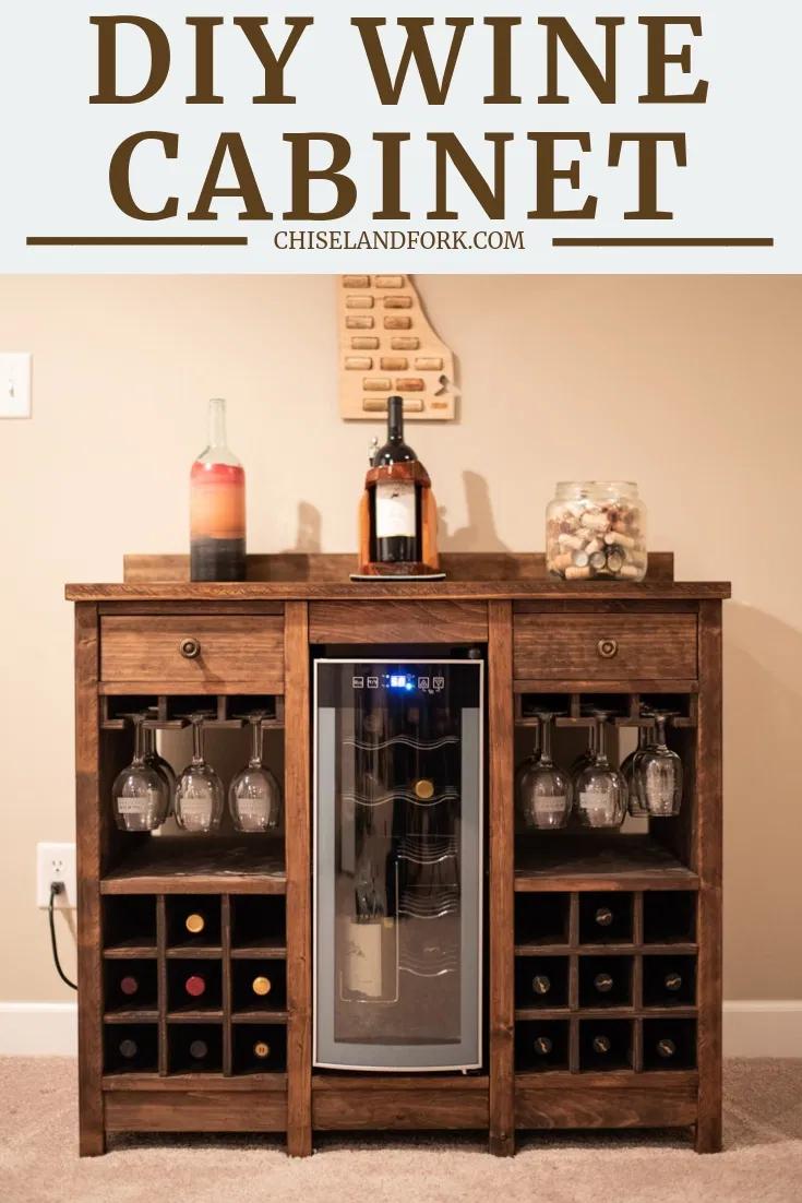 Wine Cooler Cabinet In 2020 Wine Cabinet Diy Wine And Liquor