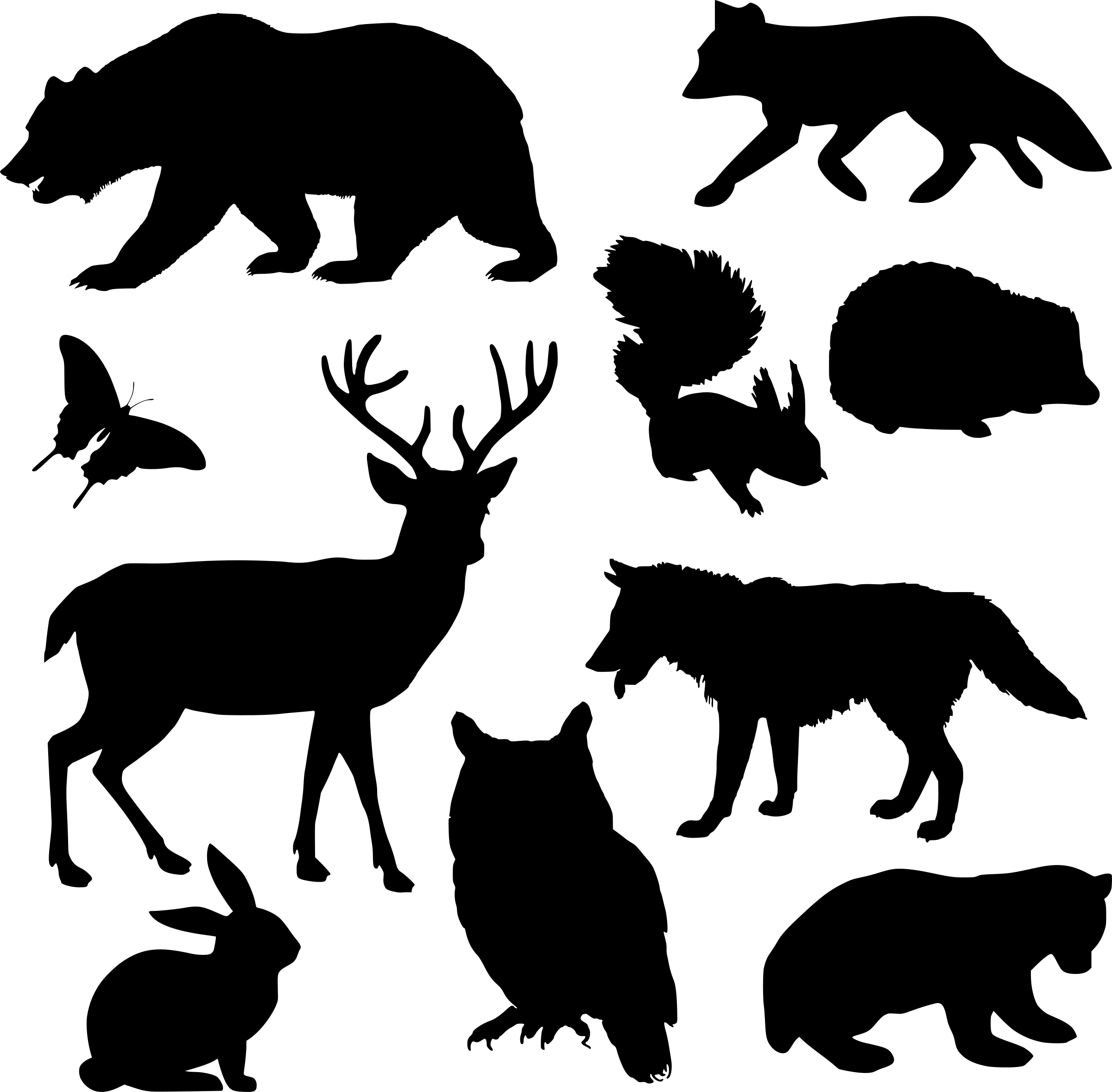 Vecteur Defini Des Silhouettes D Animaux 13