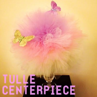 Karen's Soiree: Party DIY: Tulle Centerpiece