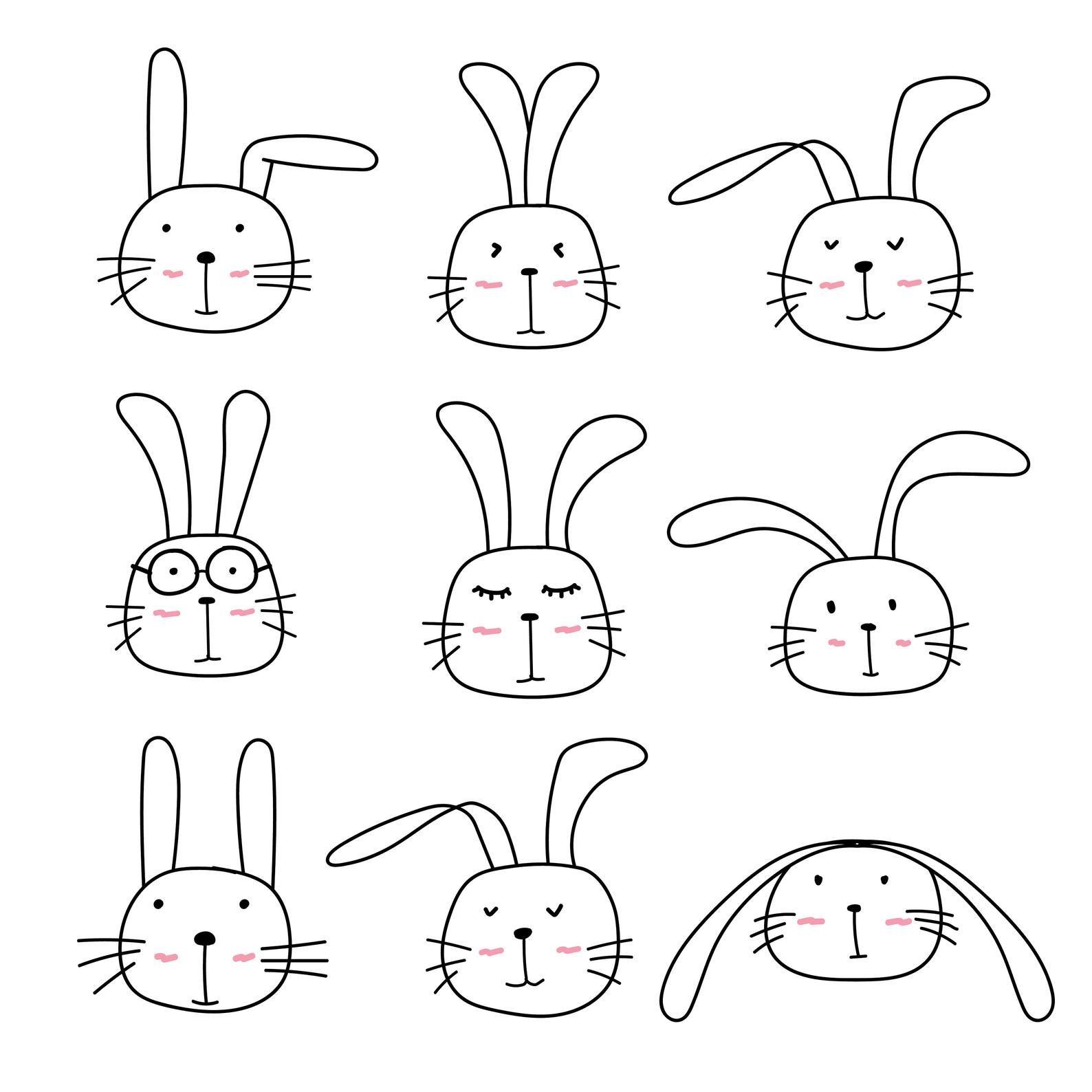 Cute Bunny Clipart Cute Animal Clipart Rabbit Clipart Etsy In 2021 Rabbit Clipart Cute Animal Clipart Bunny Drawing