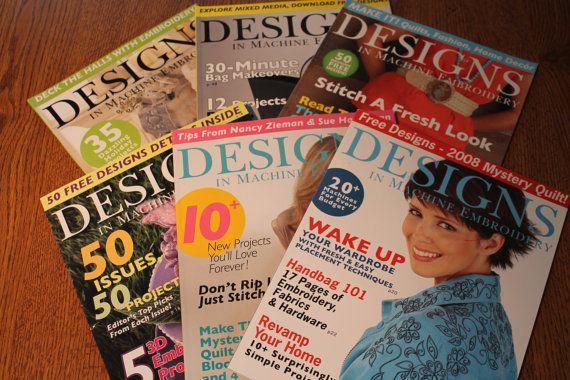 Designs In Machine Embroidery Magazines By Insidethecornerroom