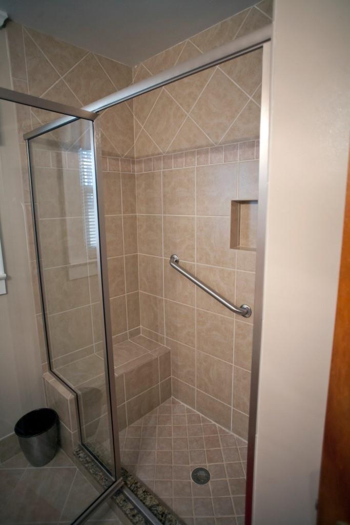 Tub to shower conversion belmar cashmere tiles bathroom - Bathroom remodel tub to shower conversion ...