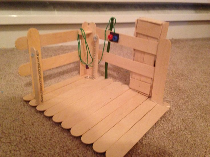 Wash stall made with Popsicle sticks #popciclesticks