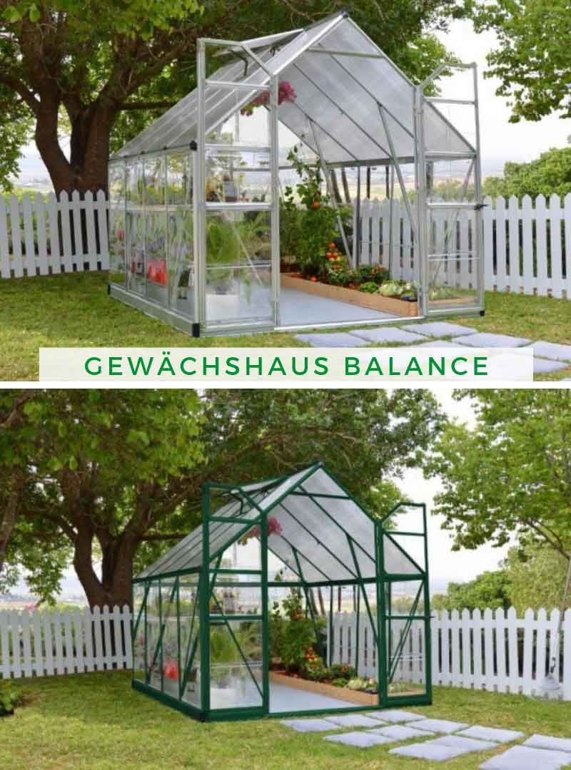 Terrando Gewächshaus Balance Garten, Pflanzen und Haus