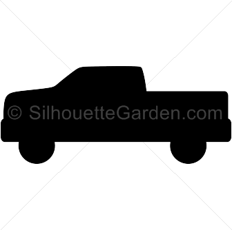 Pickup Truck Silhouette Pickup Trucks Tractor Silhouette Silhouette Clip Art