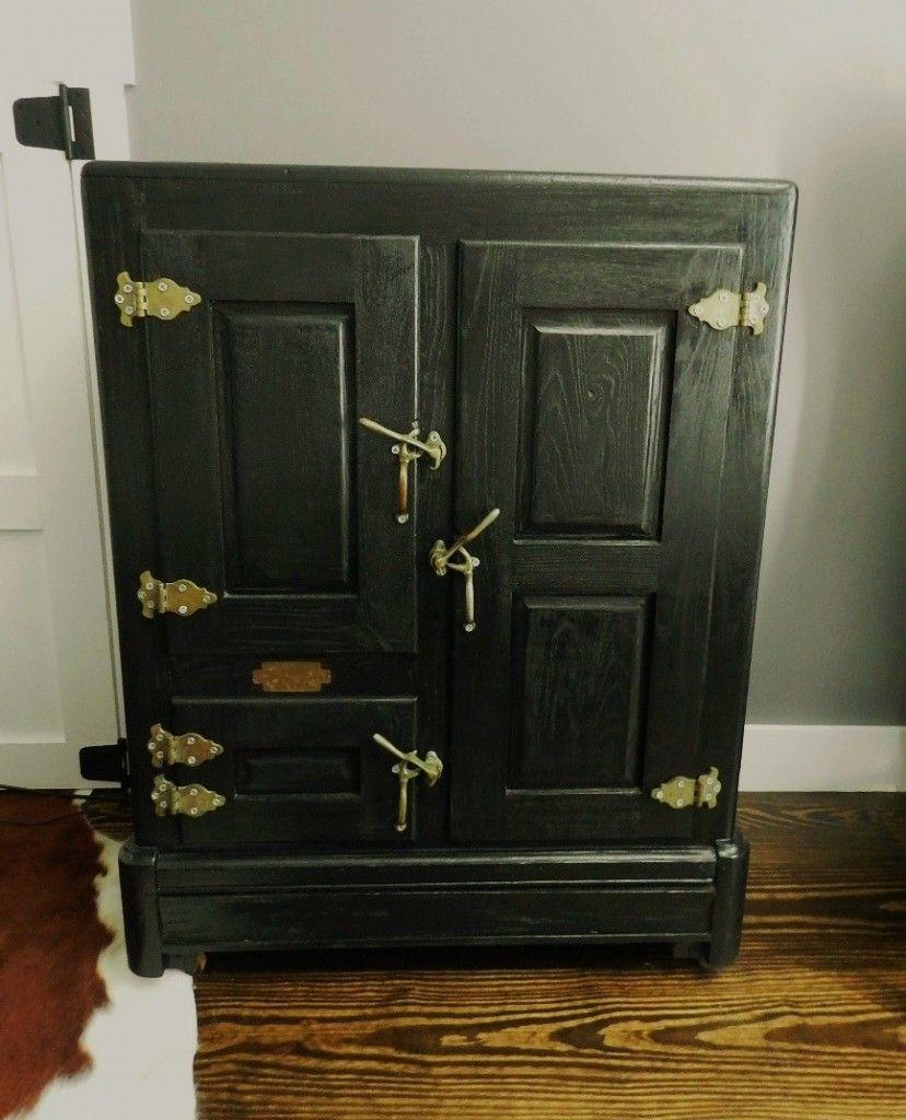 Restored And Repurposed Antique Icebox Antique Ice Box Vintage Ice Box Antiques
