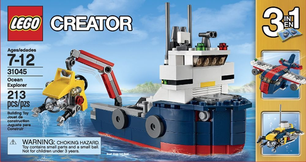 LEGO Ocean Explorer Boat Play Building Toy For Kids Christmas ...