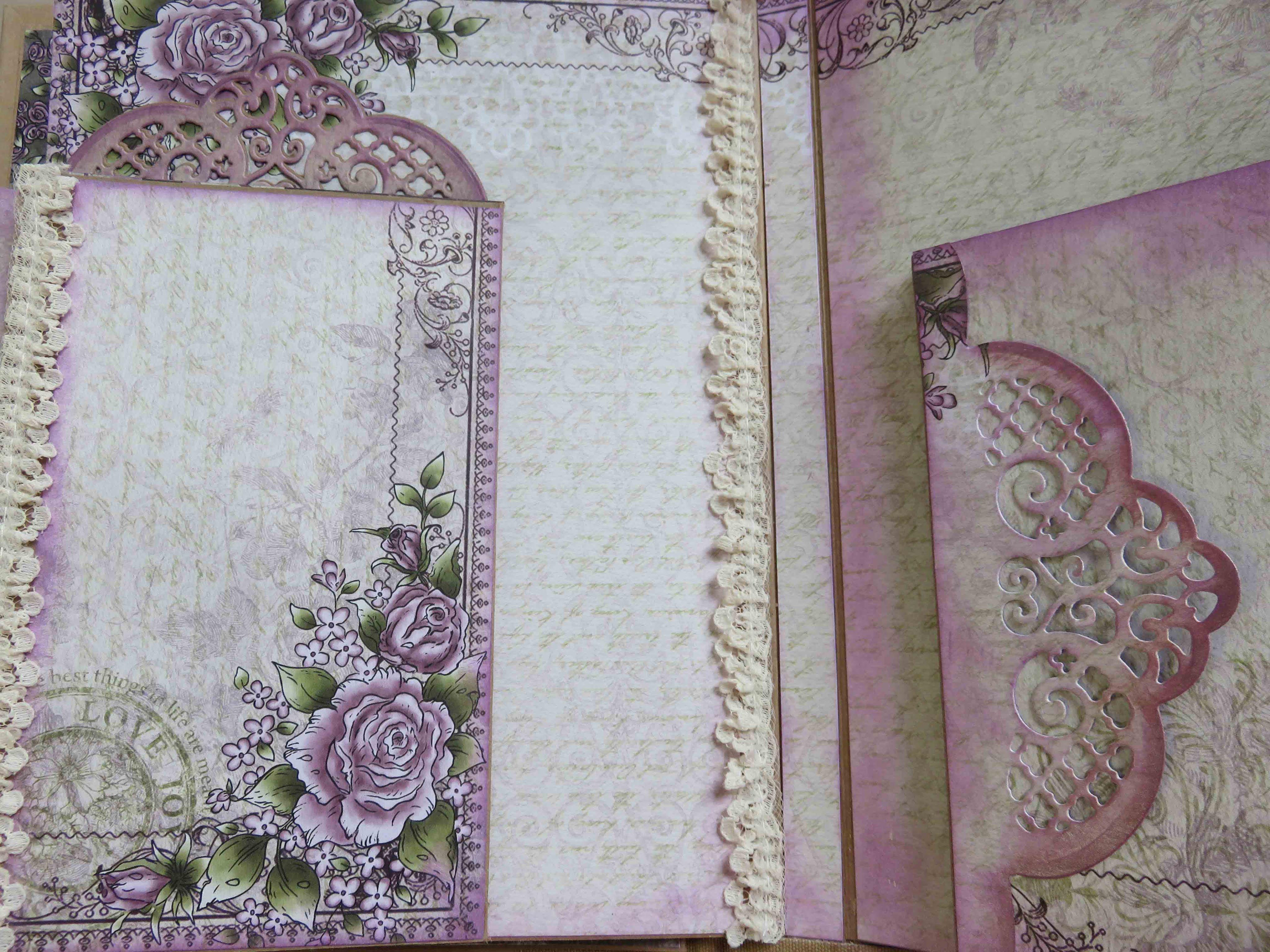 Heartfelt Creations Tutorial Pt3Album and Inserts using Raindrops on Roses paper