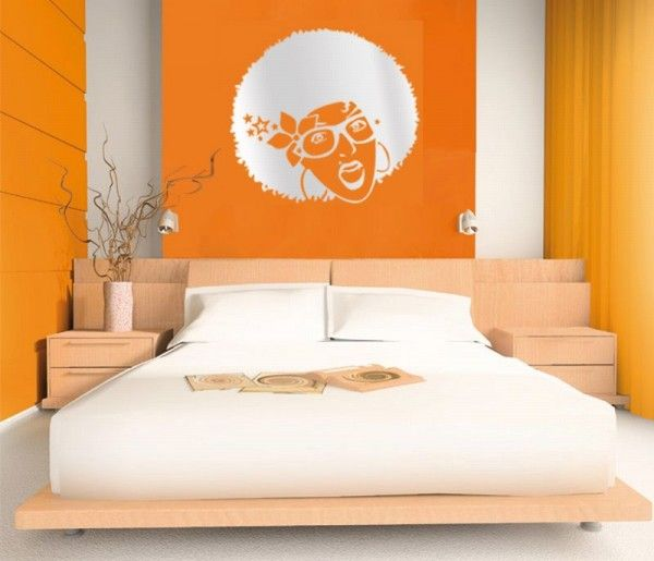 Fresh Orange Bedroom Design interior design architecture ideas