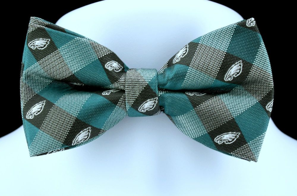d7b39115 New Philadelphia Eagles Plaid Mens Bow Tie Adjustable NFL Football ...