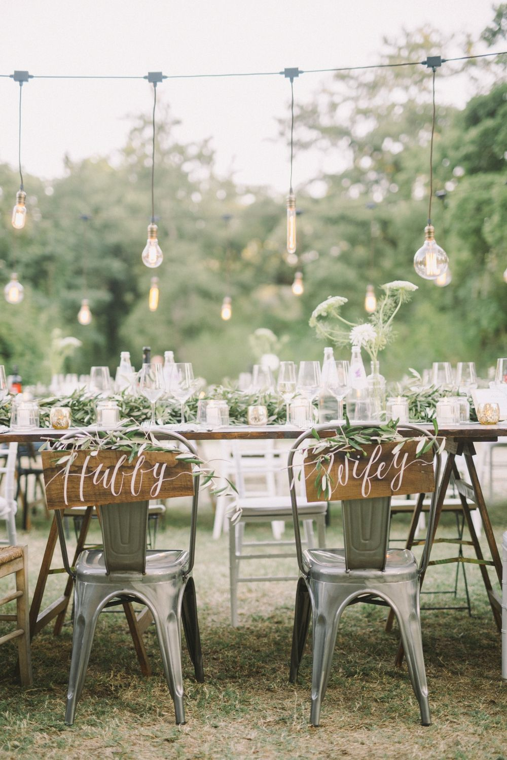 Bride and Groom Chairs - Boho industrial wedding in Tuscany from Laura Bravi Events