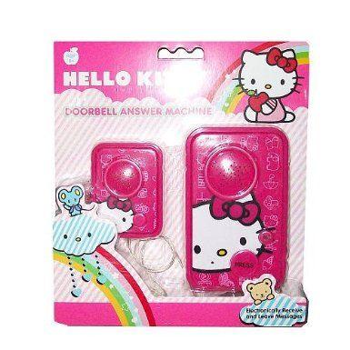 Hello Kitty Doorbell Answering Machine Kids Bedroom Wall Art Hello Kitty Appliances Hello Kitty