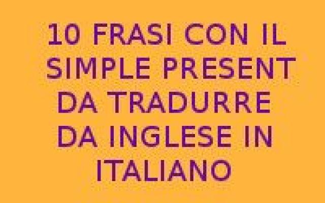 Prima Pagina Inglese Frasi In Italiano Presentazione