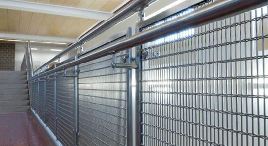 Woven wire metal railings exterior decorative mesh