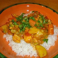 Chicken Stew With Coconut Milk - Really tasty. I just added a bit more cumin and curry, threw it in the crockpot for a couple hours and served it over rice. We really enjoyed the flavors. Great recipe!