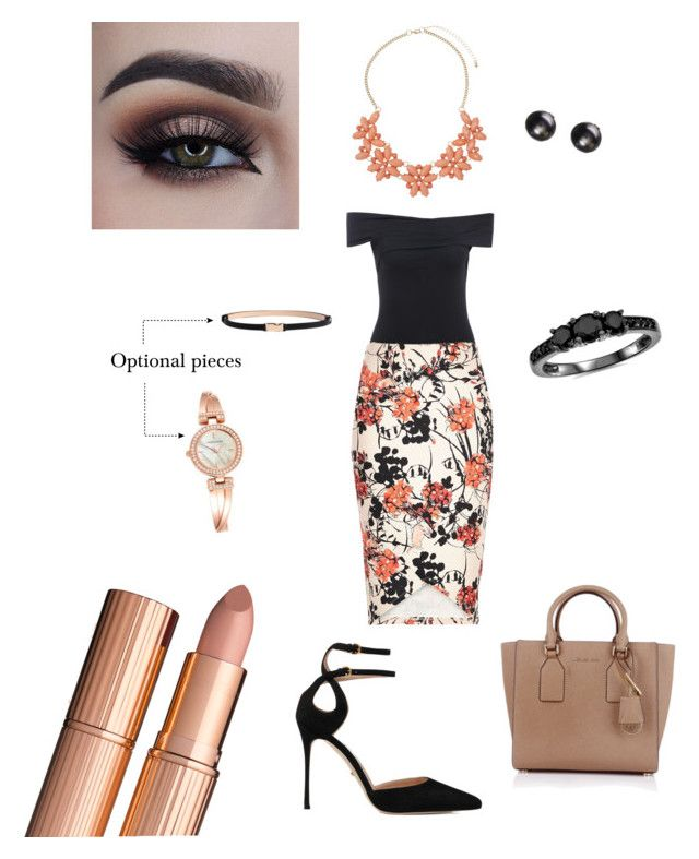 """Lunch with the girls"" by emalenf on Polyvore featuring Dorothy Perkins, Sergio Rossi, Michael Kors, Anne Klein and Bliss Diamond"
