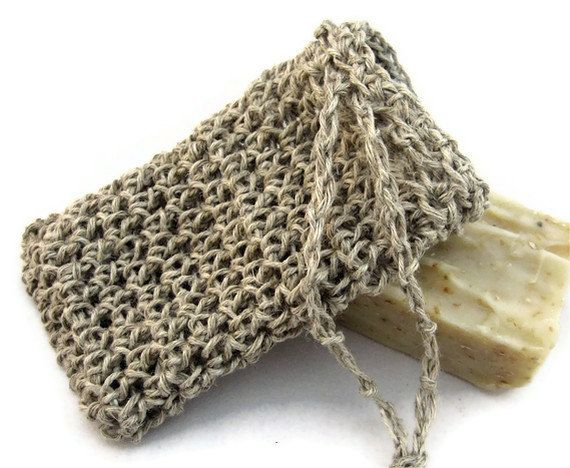Back For The Holidays Natural Hemp Soap Saver Pouch Eco