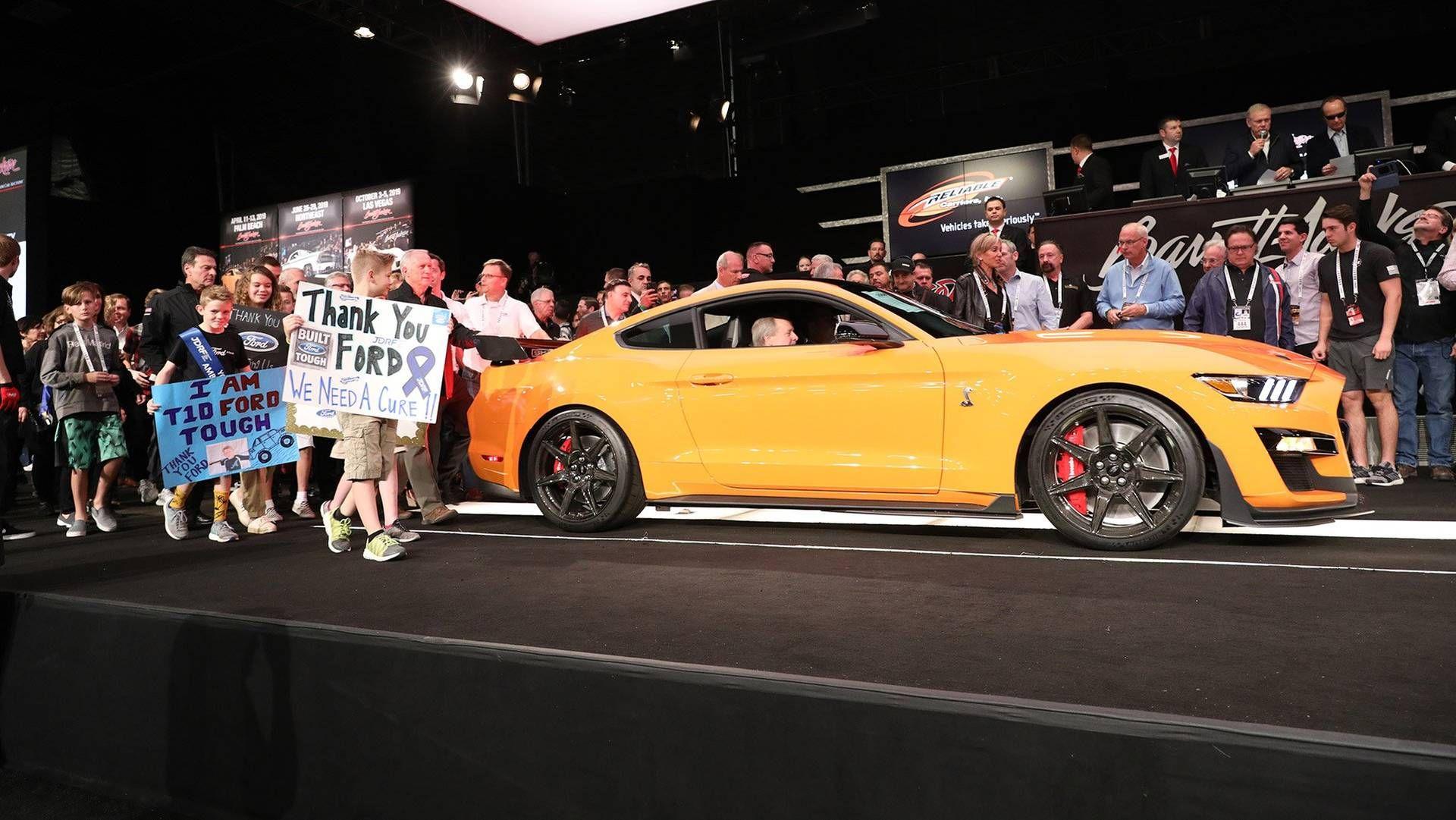 2020 Ford Mustang Shelby Gt500 Nets 1 1 Million Winning Bid At