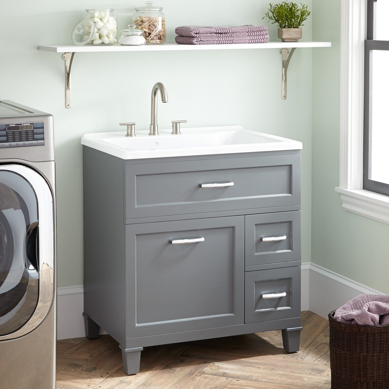 30 Ciarra Laundry Vanity Gray Vanity Laundry Room Design